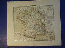 Nice Map of Frankreich (France) SOHR-BERGHAUS HAND ATLAS 1st Ed 1844