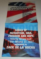 FAHRENHEIT 9/11~Pearl Jam~Promo Poster Flat~Double Sided~12x24~NM Condition