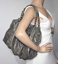 MICHAEL Michael Kors 'ERIN' Pewter Metallic Shoulder Bag