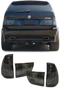 ALL SMOKED LED REAR LIGHTS FOR BMW X5 E53  8/1999-10/2003   NICE GIFT E534656