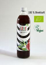 6 Fl. x 0,5 l BiO Granatapfelsaft LOVE 100% Direktsaft Muttersaft vegan bio