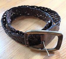 Levi Strauss Signature Dark Brown Men's Leather Belt with Brass Buckle