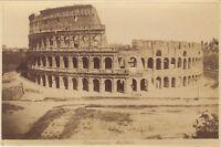 Colosseo Roma Italia Foto Vintage Albumina Ca 1880