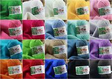 18pcs Pelote Fil Tricoter Crochet Coton Bambou Naturel Doux Épais Pr Bébé Enfant