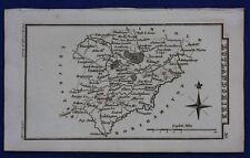 Original antique miniature county map RUTLANDSHIRE, RUTLAND, S. Leigh, 1820-31