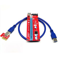 USB3.0 PCI-E Express Extender 1x to 16x Riser Card Adapter SATA 15Pin Power Cord