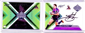 2012 Select NRL Dynasty SIGNATURE REDEMPTION CARD Billy Slater # 083/100