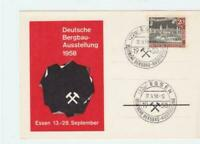 Germany Essen 1958 Mining Exhibition  stamps card R21191