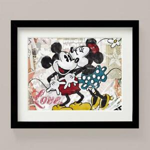 MICKEY MINNIE Mouse LOVE Classic Picture Print Nursery Bedroom