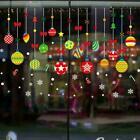 Christmas Xmas Santa Removable Window Stickers Art Decal Wall Home Shop Decor Uk