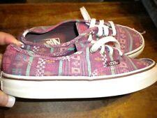 Vans Skate Shoes purple multi womens 7 mens 5.5