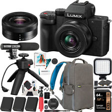 Panasonic LUMIX G100 Mirrorless Camera with 12-32mm Lens Tripod 4K Vlogging Kit