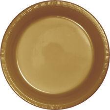 20 Glitter Gold Wedding Birthday Party Tableware 7  Plastic Dessert Plates  sc 1 st  eBay & Gold Plastic Party Plates | eBay