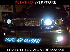 """COPPIA 2 LAMPADINE POSIZIONI LED BIANCO GHIACCIO - """"JAGUAR S-TYPE"""" - NO ERRORS!"""