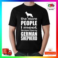 The More I Love My German Shepherd Dog T-Shirt Shirt Printed Tee Tshirt People
