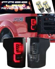 15 16 17 FORD F150 F-150 LED Tail Lights Taillights BLACK / SMOKE FREE LED