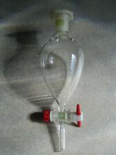 1 x Scheide-Tropftrichter -100ml- m. PTFE-Hahnküken u. PE-Stopfen NS 19/26 *NEU*