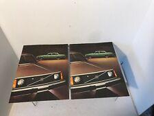 NOS Pair of Original 1975 Volvo 240 Series Sales Brochure Catalog