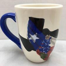 "Texas Bluebonnets Coffee Mug Cup Souvenir Artist Lolita Irby 2004 4 1/2"" Tall"