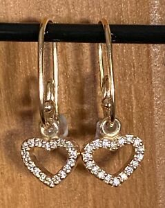 Pandora Brand new - 14ct Gold Compose Earring Drops with posts.