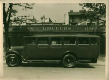 Photo ancienne voiture autobus Panhard & Levassor Paris 1900 / 1920