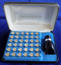 More details for usa, franklin mint presidential mini-coin set, first edition (ref. t4058)