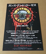 2017 Guns n' Roses JAPAN concert tour flyer / mini poster / japanese MINT