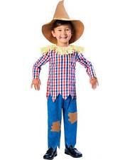 Boys Scarecrow Child Fairytale New Fancy Dress Costume + Hat Kids Book Week Day