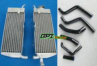 aluminum radiator + Black hose for Honda CR250R/CR250 R 2-stroke 1988 1989 88 89