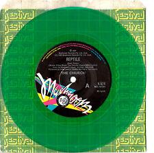 """The Church - Reptile / Texas Moon - Rare Green Promo 7"""" 45 Vinyl Record 1987"""