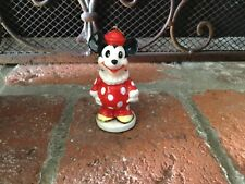 MICKEY MOUSE IN CLOWN OUTFIT VINTAGE FIGURAL CERAMIC CHRISTMAS ORNAMENT DISNEY