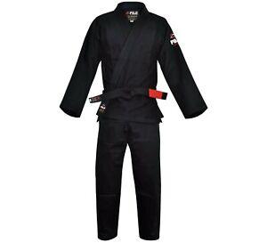New Fuji Sports All Around Mens Brazilian Jiu Jitsu Gi Jiu-Jitsu BJJ - Black