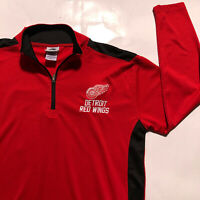 Detroit Red Wings NHL Offical Product Long Sleeve 1/4 Zip Size Large Pullover