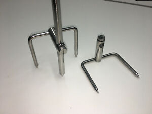 2 x TMC Stainless Steel Bankstick Stabilizer with locking thumb screw - 16mm