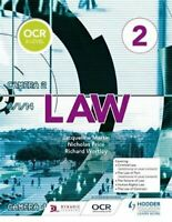 OCR A Level Law Book 2 by Jacqueline Martin 9781510401778   Brand New