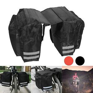 Large Bike Bicycle Seat Rear Bag Waterproof Pannier RackPack Shoulder Cycling UK