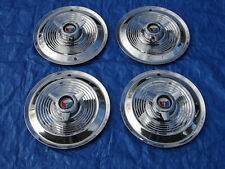 """BEAUTIFUL SET OF 1963 1964 FORD GALAXIE 15"""" HIPO 427 SPINNER WHEELCOVERS HUBCAPS"""