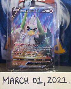 Galarian Sirfetch'd V - 174/185 - Full Art Holo Pokemon Card Vivid Voltage Mint