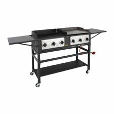 Buffalo 6 Burner Combi BBQ Grill and Griddle Stainless Steel Black 17.5kW