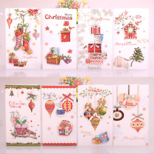 3D Merry Christmas Card Holiday Greeting Cards Blessing Card Invitations Gifts