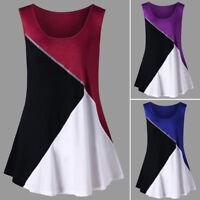 Fashion Women Summer Sleeveless Plus Size Blouse T Shirt Vest Loose Casual Top