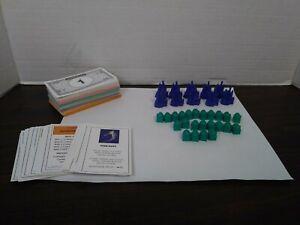 Monopoly Disney Edition 2001 Replacement Pieces Castles Hotels Cottages Cards