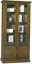 Vetrina cristalliera ,legno massello, arte povera, mobile ufficio