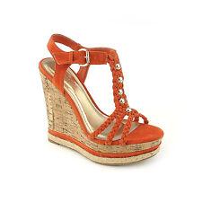 Summer Fashion Shoes suede Cork style Wedges Platform High Heels Sandals Size W4