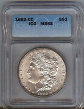 1882-CC - Morgan Silver $1  ICG MS65 - SCARCE DATE  !