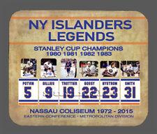 Item#6158 Retired Numbers NY Islanders Facsimile Autographed Mouse Pad