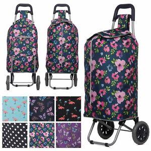 Hoppa Lightweight Funky Design 2 Wheel Folding Shopping Trolley Large Shopper
