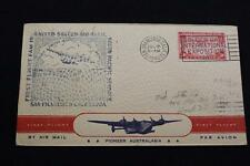 1ST FLIGHT COVER 1940 SLOGAN CANCEL FAM-19 SOUTH PACIFIC SERVICE AUCKLAND (2606)