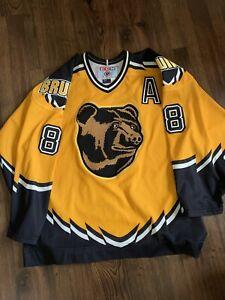CCM Cam Neely Boston Bruins Pooh Bear NHL Hockey Jersey Yellow Alternate L