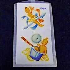 Vintage Duro Decals Creepy Cute Kitchen Babies 1006-B Water Slide Crafts